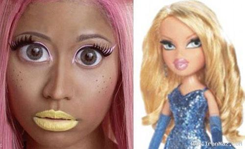 شهرت جهانی زنی بدلیل آرایش بسیار عجیب +عکس