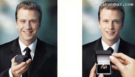 چهره  آقایان از دید خانم ها قبل و بعد از خواستگاری!!