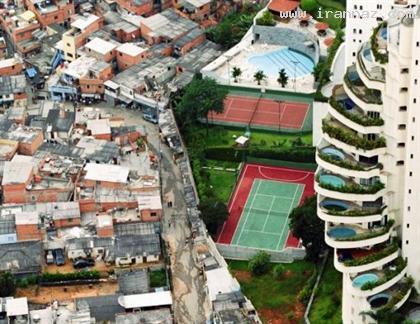 عجیب ترین مرز بین فقرا و ثروتمندان یک شهر +عکس