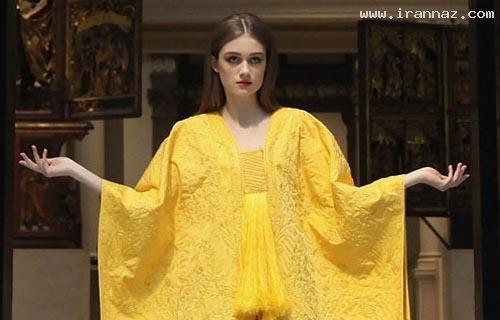 عکس هایی از دختری با لباسی بسیار عجیب و نادر!
