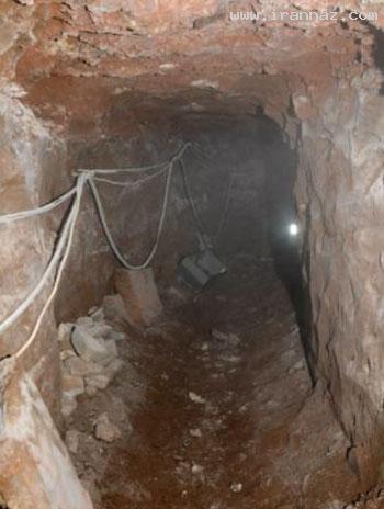 حفر تونل یک زیر زمینی برای ربودن عابر بانک! +تصاویر