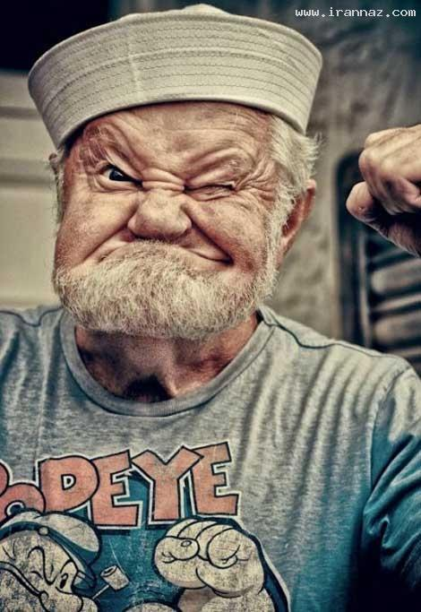 شباهت بسیار خنده دار یک مرد به ملوان زبل! +عکس