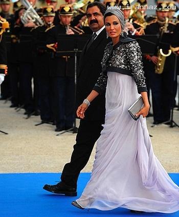 لباس زیر 100 میلیون تومانی همسر امیر قطر +عکس