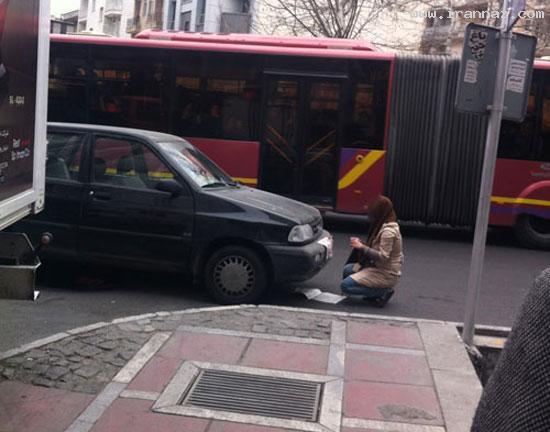 فرار زن تهرانی از طرح ترافیک با ترفند دیدنی (تصویری)