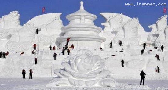 عکس هایی از مجسمه های یخی بسیار زیبا و دیدنی