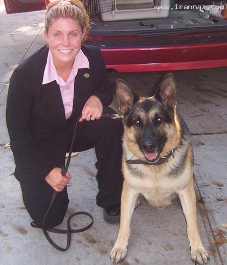 تلاش دختری برای بدست آوردن سگ ارتشی +عکس