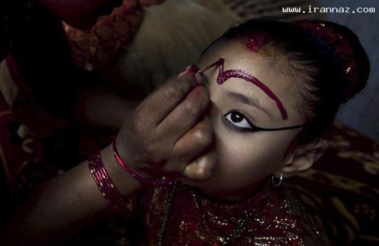 دختر جوانی که خدای کشور خود شده است! +تصاویر