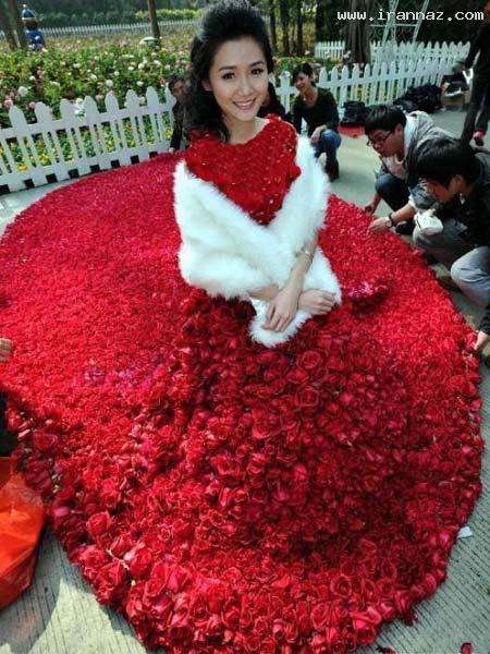 عکس های رمانتیک و عاشقانه ترین لباس عروس دنیا! ، www.irannaz.com
