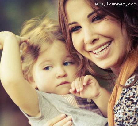 عکس هایی از نانسی عجرم با دختر کوچولوی ناز خود