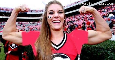 تلاش یک دختر برای شرکت در فوتبال آمریکایی+عکس