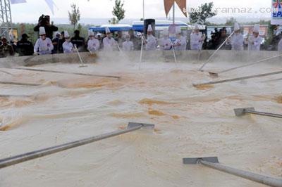 بزرگترین و عجیب ترین غذاهای پخته شده دنیا +تصاویر ، www.irannaz.com