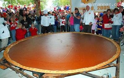 بزرگترین و عجیب ترین غذاهای پخته شده دنیا +تصاویر