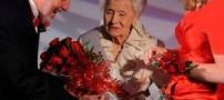 تاج ملکه زیبایی جهان بر سر خانم 100 ساله! +تصاویر