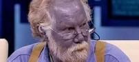 این مرد با پوست آبی خود دنیا را متحیر کرده!! +عکس