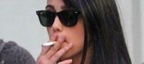 وقتی دختر 15 ساله مدونا هم سیگار میکشد +عکس