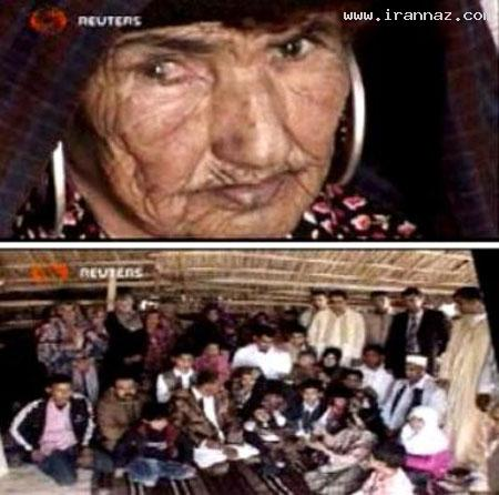 پیرزنی با 108 سال سن و با 108 نوه و نتیجه! +عکس