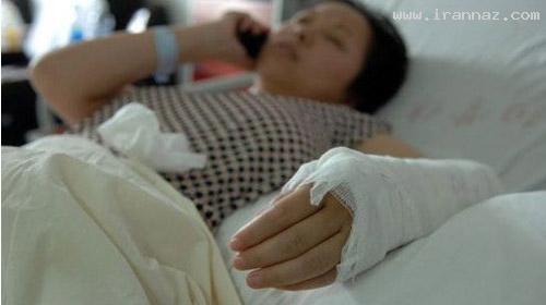 شجاعت زنی در نجات جان یک کودک 2 ساله! +عکس