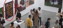 شیطنت خنده دار یک ایرانی در نمایشگاه هنر! +عکس