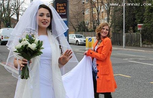 شوکه شدن مردم از اقدام عجیب یک عروس!! +عکس ، www.irannaz.com