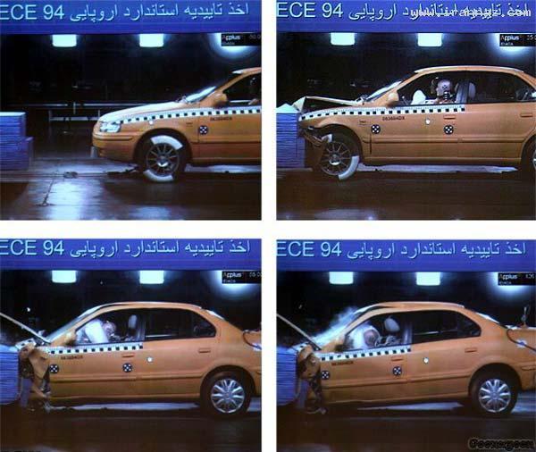 مقایسه و تست ایمنی 3خودروی معروف ایران+عکس