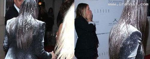 حمله زنی با یک کیسه آرد به کیم کارداشیان! +تصاویر