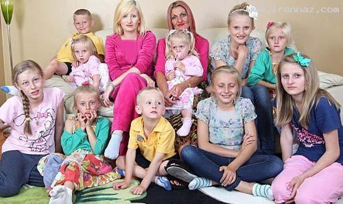 خانمی مجرد که تاکنون 14 فرزند به دنیا آورده! +عکس