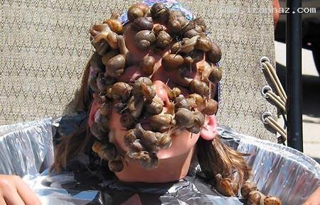 عکس های رکورد باور نکردنی یک دختر با حلزون هایش
