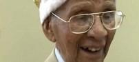 آرزوی پیر ترین مرد برای ازدواج در 111 سالگی +عکس
