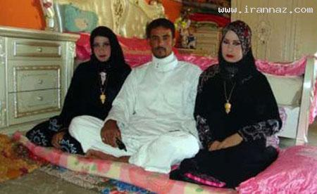 ازدواج همزمان یک مرد با 2 دختر در یک شب!! +عکس