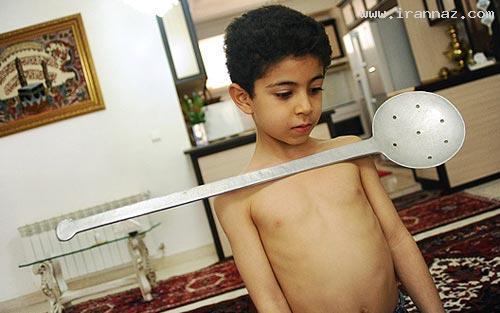 عکس هایی دیدنی از متین، پسر خارق العاده تبریزی!