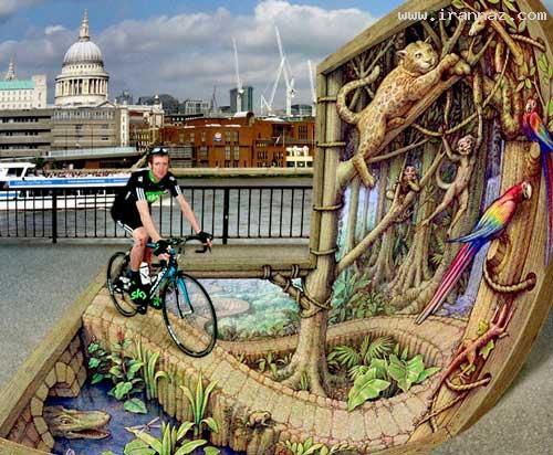 عکس هایی دیدنی از نقاشی سه بعدی در خیابان ها