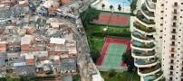 عکسی از عجیب ترین مرز بین فقرا و ثروتمندان یک شهر