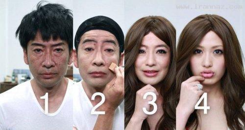 معجزه باور نکردنی آرایش بر روی صورت یک… +عکس