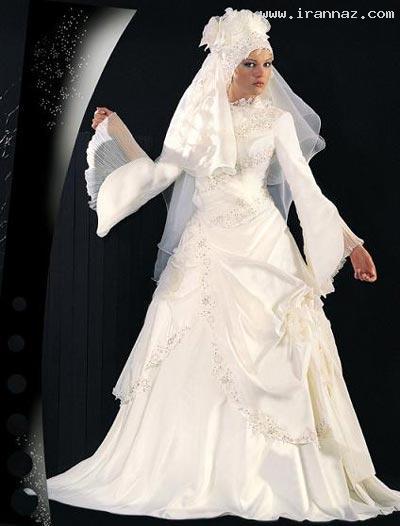 جدیدترین مدل های لباس عروس اسلامی سال 2012