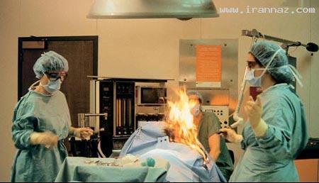 پزشکی که بیمار خود را در اتاق عمل آتش زد!! +عکس