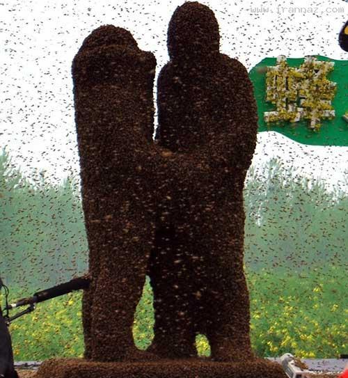 مراسم عجیب یک زوج برای اثبات عشق خود! +تصاویر ، www.irannaz.com