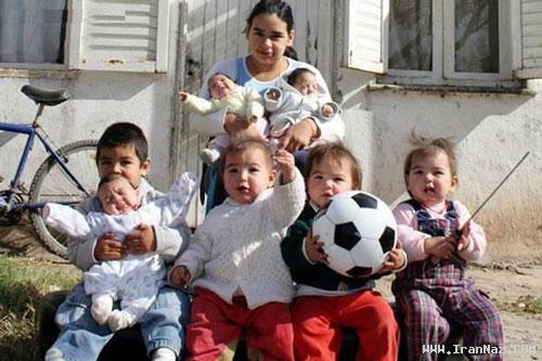 سرگذشت عجیب دختری 17 ساله با 7 فرزند! +تصاویر ، www.irannaz.com