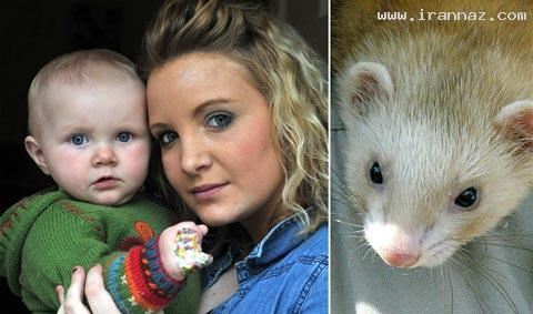لحظاتی بسیار ترسناک برای یک مادر و فرزند +تصاویر