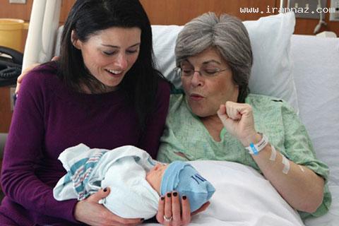 مادربزرگ نوه اش را بجای دخترش به دنیا آورد!! +عکس