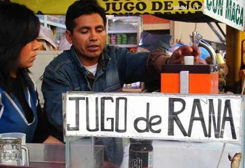 عکس هایی از محبوب ترین نوشیدنی پرو (آب قورباغه)