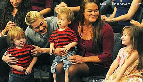 مردی که 3 بچه را بصورت طبیعی به دنیا آورد! +عکس