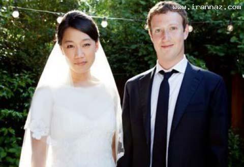 زوکربرگ مدیر عامل سایت فیسبوک ازدواج کرد+عکس