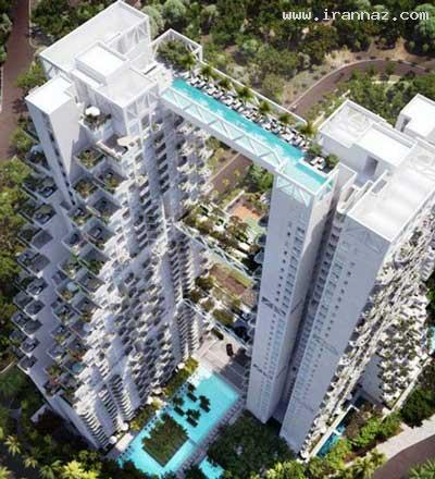 ترسناك ترین استخر جهان در طبقه 38 یک ساختمان!