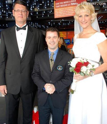 ازدواج جالب زن 2 متری با مردی 209 سانتی +تصاویر
