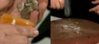 اعتیاد جالب یک زن آمریکایی به خوردن سنگ! +تصاویر