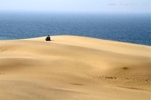 عکس هایی بسیار زیبا و باورنکردنی از پیوند کویر و دریا