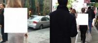 ماجرای قدم زدن زن برهنه در خیابانهای آمریکا +عکس