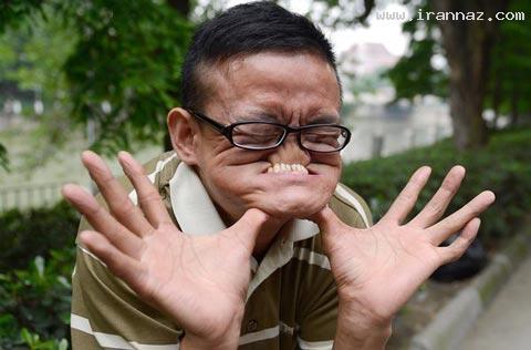 شیرین کاری بسیار عجیب و جالب مرد چینی! +تصاویر