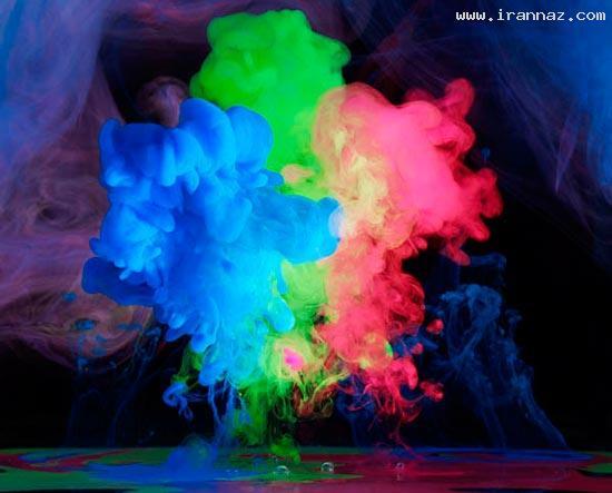 عکس هایی از هنرنمایی فوق العاده زیبا با رنگ و بخار