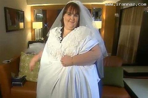 چاق ترین خانم جهان در بزرگترین لباس عروس +تصاویر
